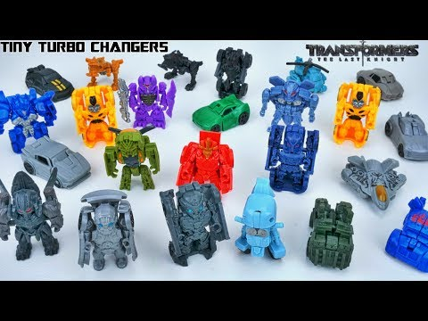 TRANSFORMERS THE LAST KNIGHT FULL COLLECTION TINY TURBO CHANGERS WAVE 1 AND 2 DRIFT BERSERKER COGMAN