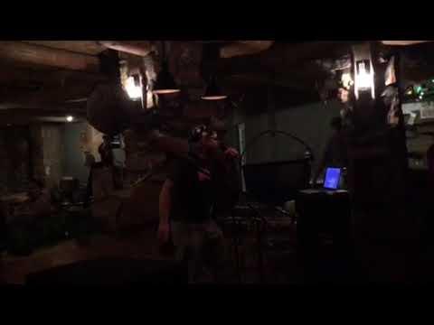 Clayton backs it on up at Karaoke La Kiva