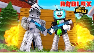 DUOS DREAM TEAM IN ROBLOX FORTNITE! (Roblox Island Royale With xdarzethx)