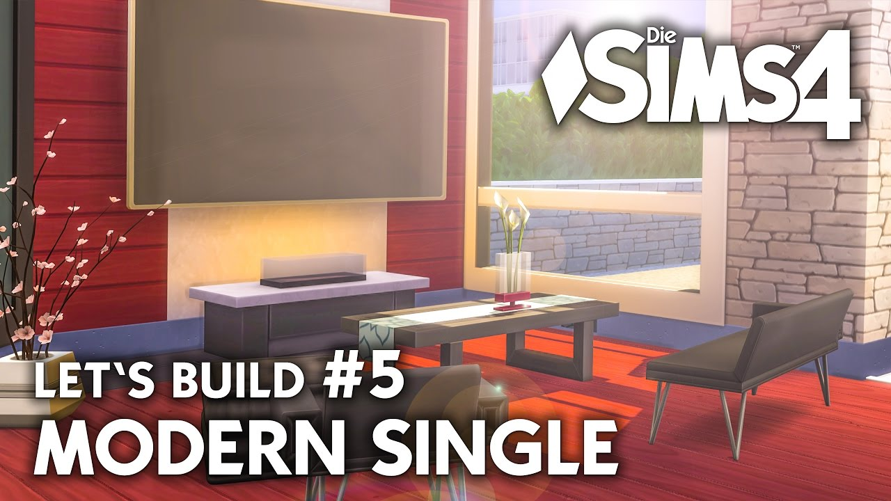 die sims 4 haus bauen modern single 5 let 39 s build. Black Bedroom Furniture Sets. Home Design Ideas