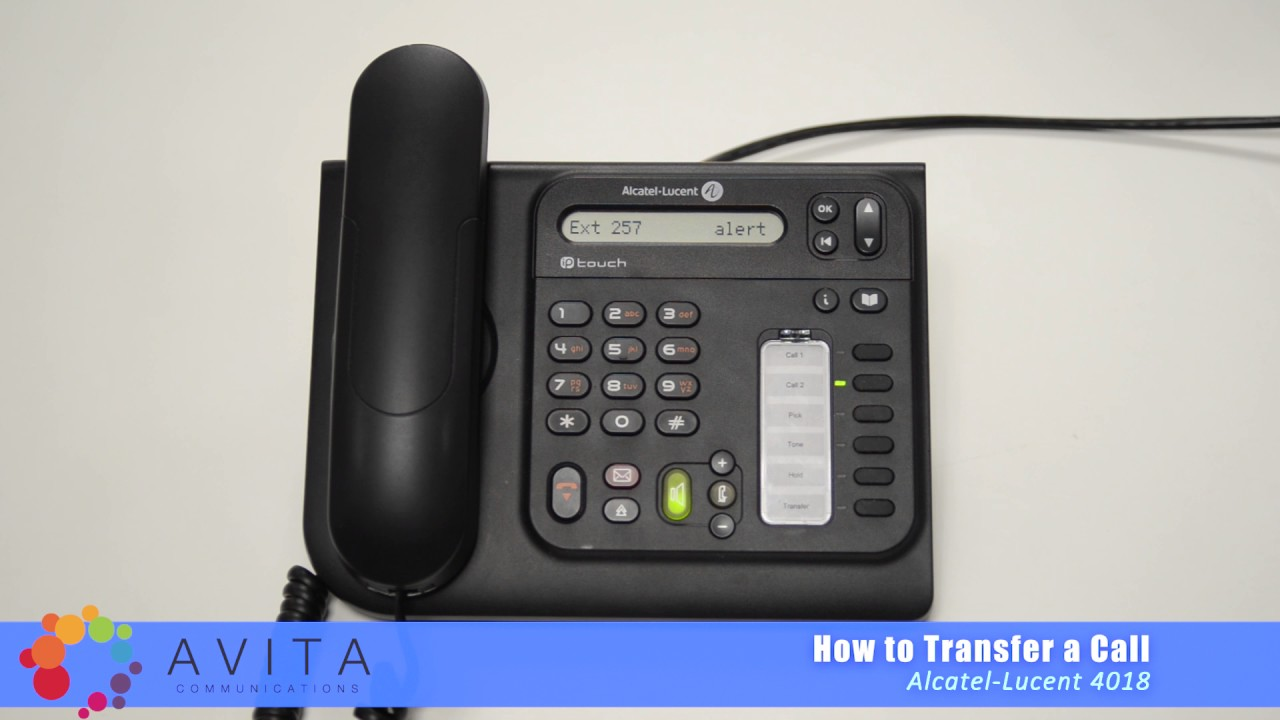 How To Transfer A Call Alcatel Lucent 4018 Youtube