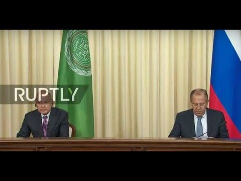 LIVE: Lavrov and Aboul-Gheit meet in Moscow: press conference
