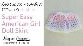 Crochet Easy American Girl Doll Skirt - 2 Of 2 - Fp470