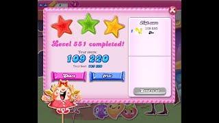 Candy Crush Saga Level 551 ★★★ NO BOOSTER