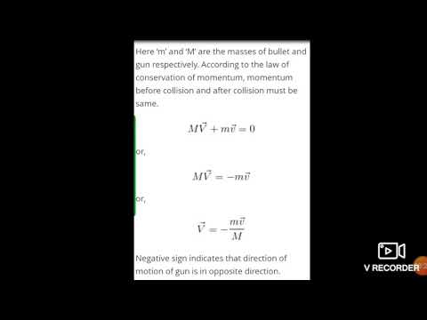Application Of Momentum Conservation Recoil Of Gun Applied Physics 1002 By Dr Anupama Upadhyay Youtube