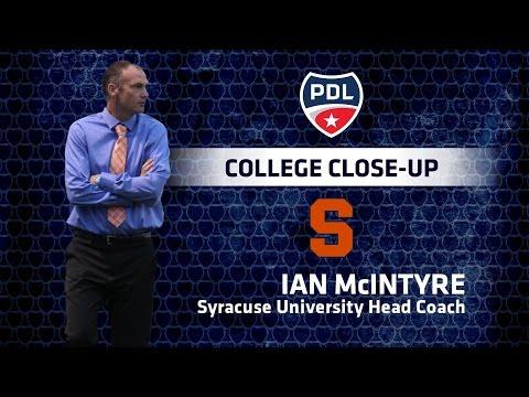 PDL College Close-up: Syracuse Head Coach Ian McIntyre