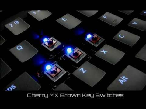 nighthawk x8 blue backlit mechanical keyboard with cherry mx brown key switch by max keyboard. Black Bedroom Furniture Sets. Home Design Ideas