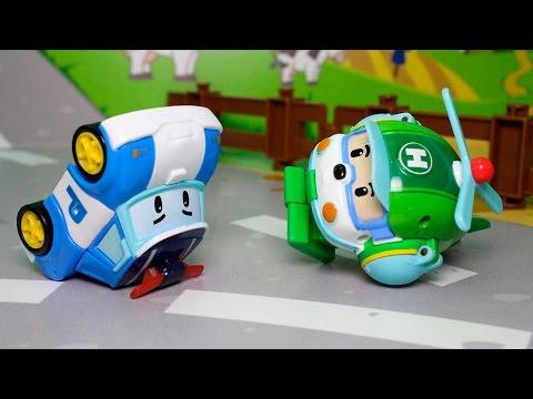 Видео для детей с игрушками Робокар полли - Обмен ролями! Видео для детей про машинки