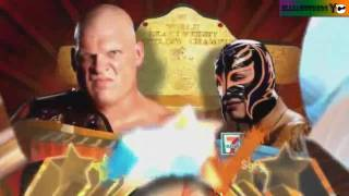 WWE Summerslam 2010 Promo Match Card - Kane vs Rey Mysterio World Title Match