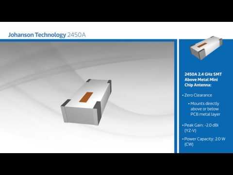New at Mouser - Johanson Technology 2450A 2.4 GHz Zero Clearance Antenna