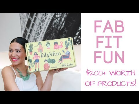 FABFITFUN SPRING BOX (Is there really $200+ worth of products for only $49.99??)