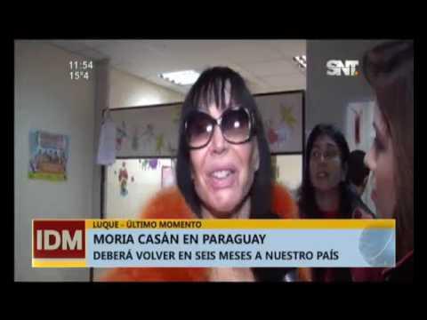 Moria Casán volvió a Paraguay