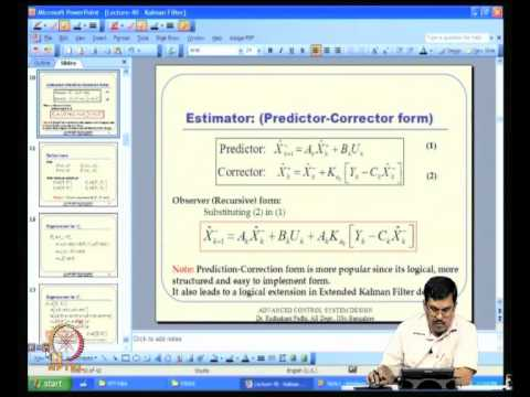 An Overview of Kalman Filter Theory video lecture by Prof