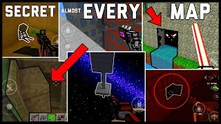Secret Locations On (almost) Every Map - Pixel Gun 3D