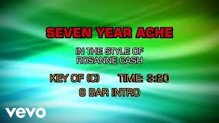 Rosanne Cash - Seven Year Ache (Karaoke)
