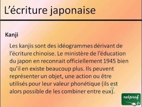 Apprendre le japonais l 39 criture japonaise youtube for Apprendre cuisine japonaise