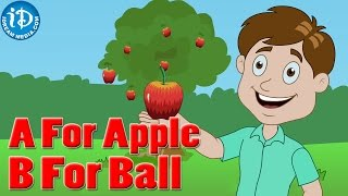 ABCD - A for Apple Song || Nursery Rhymes || Kids Learning videos || Alphabet Words Rhyme
