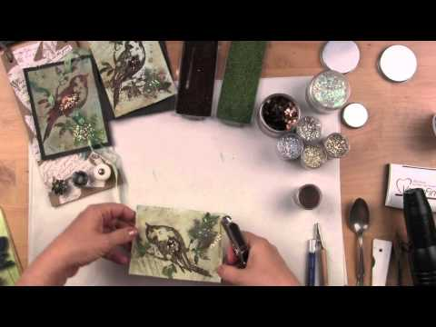 Embossing Techniques- Jumbo Encrusted Jewel Songbird