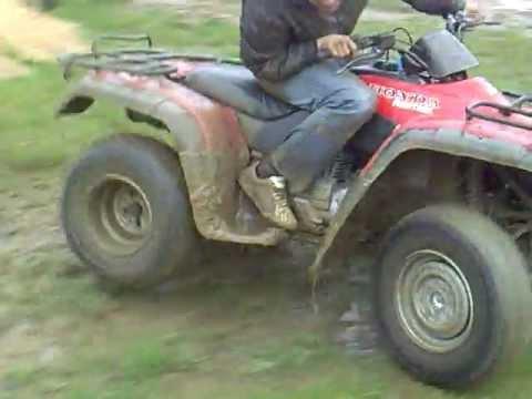Honda Fourtrax Trx 250 Wet Mud Youtube
