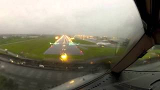 B767 Landing in a Tropical Storm (GO PRO)