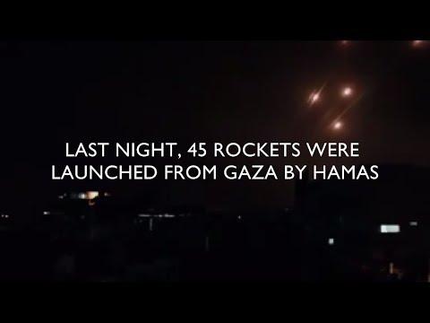 Hamas Fires 45 Rockets From Gaza at Israeli Civilians