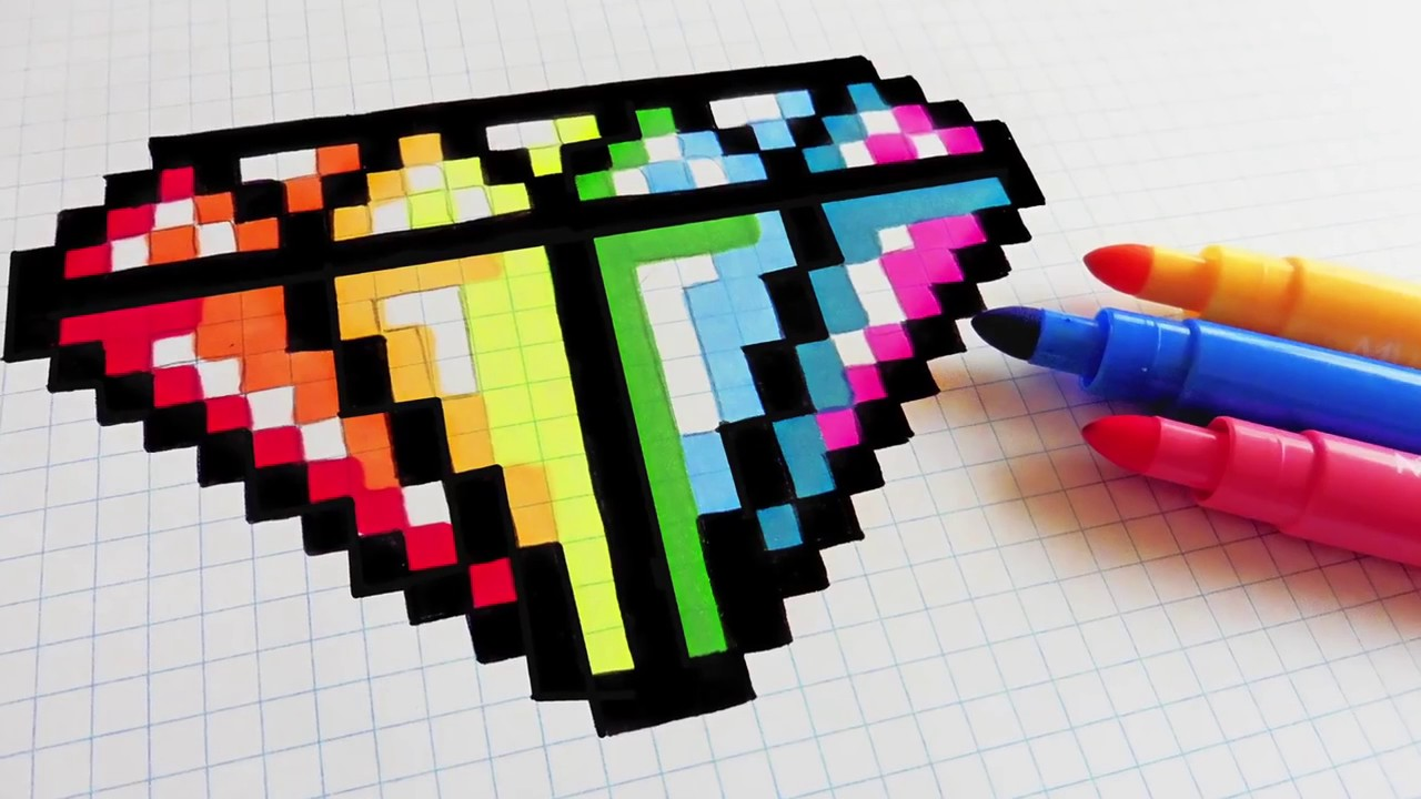 Comment Faire Une Pixel Art Un Diamant Youtube