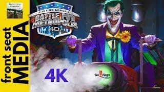 JUSTICE LEAGUE on-ride POV 4K HD Six Flags Great Adventure dark ride Battle For Metropolis