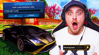 *OMG* I Got The NEW *LAMBORGHINI* CODE IN ROCKET LEAGUE! - The Next Nissan Car?