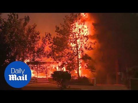 Five die in vehicle fleeing Northern California wildfires