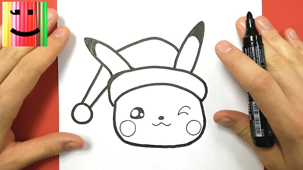 comment dessiner pikachu kawaii pour no l youtube. Black Bedroom Furniture Sets. Home Design Ideas