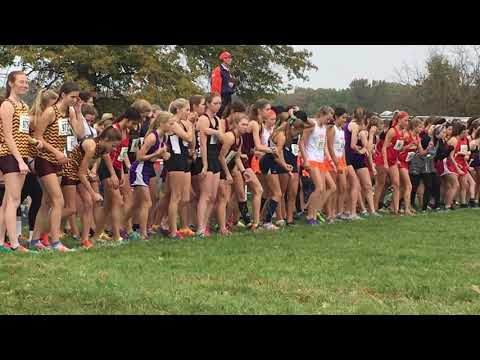 Class 2A girls cross country sectional at East Peoria
