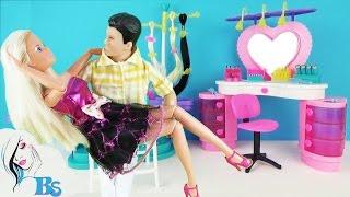 Салон красоты для кукол. Мультик «Первое свидание» Игровой набор Парикмахерская Playset Beauty Salon(Обзор и распаковка игрового набора «Салон красоты». Играем с куклами и делаем прически в парикмахерской...., 2016-04-06T04:00:00.000Z)