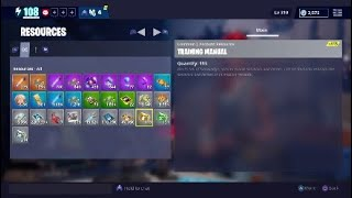 Fortnite How to get Training Manual in Fortnite