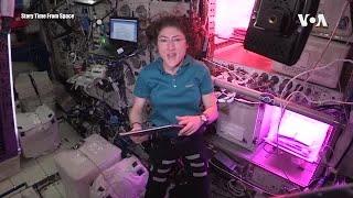 宇航员在国际空间站提供娱乐和教育