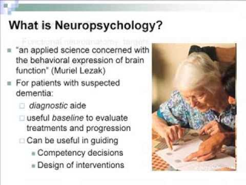 Neuropsychological Assessment of Alzheimer's Disease