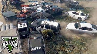 POLICYJNE PORSCHE vs NAJGORSI RABUSIE! - FiveM czyli GTA Online - Hogaty, Cesar i Yaski #07