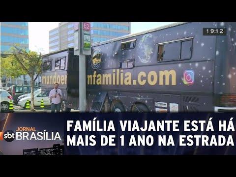 Família viajante está há mais de 1 ano na estrada | Jornal SBT Brasília 04/09/2018
