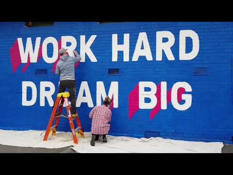 Work Hard. Dream Big - GHPS Mural