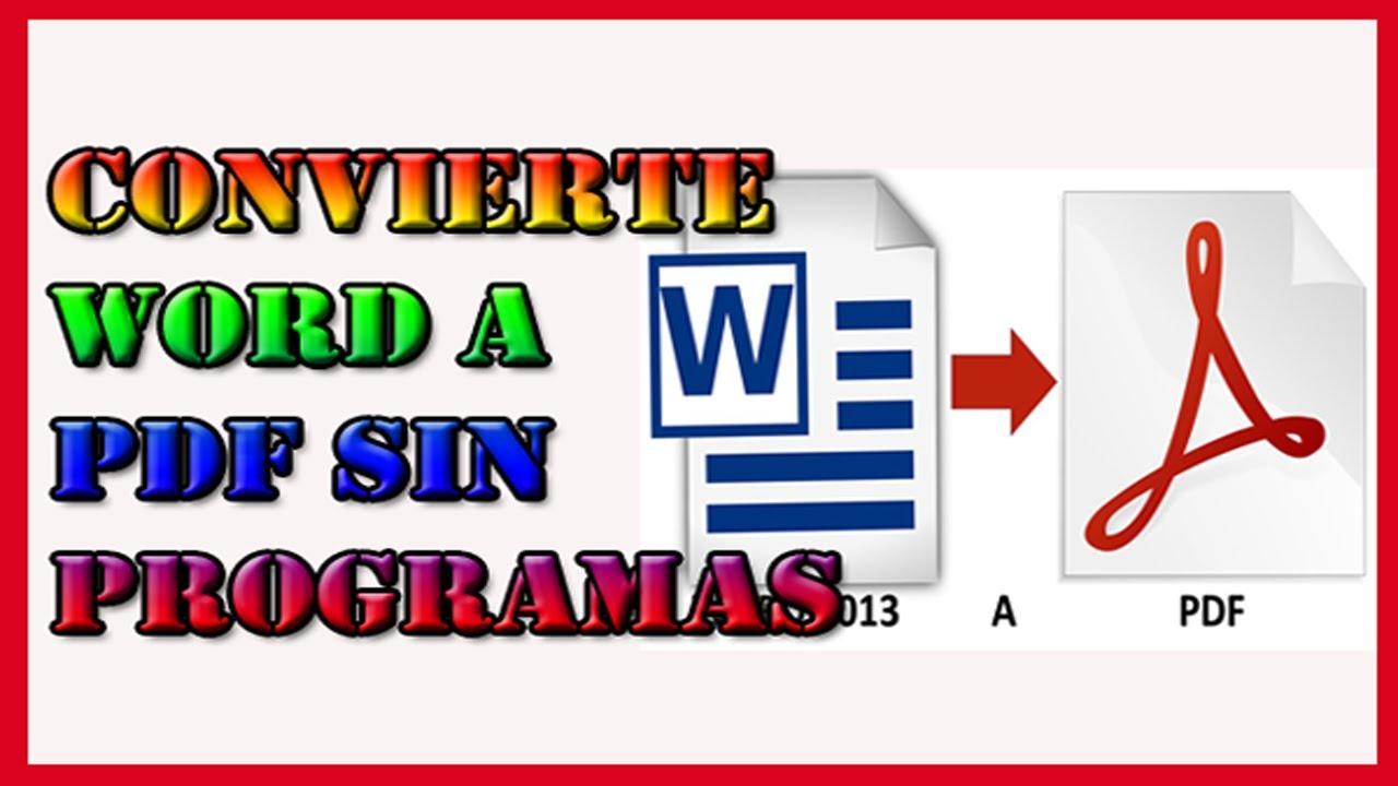 convertir word a pdf online gratis