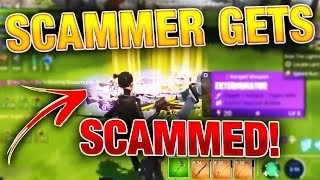 RICH TWINE PEAKS Scammer Gets Scammed Modded Siegebreaker! Fortnite Save The World!