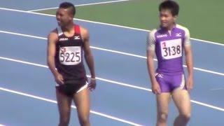 10秒30都高校新:サニブラウン/ 2015東京都高校陸上 男子100m決勝 Abdul Hakim Sani Brown of Japan