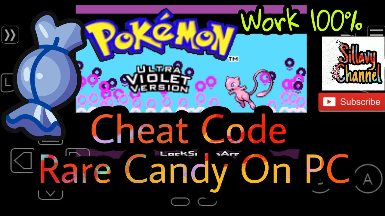 Cheat code Rare Candy Pokemon Ultra Violet hack Roms gba