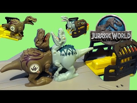 Jurassic World Brawlasaurs T-Rex vs Indominus Rex Dino Battle Set