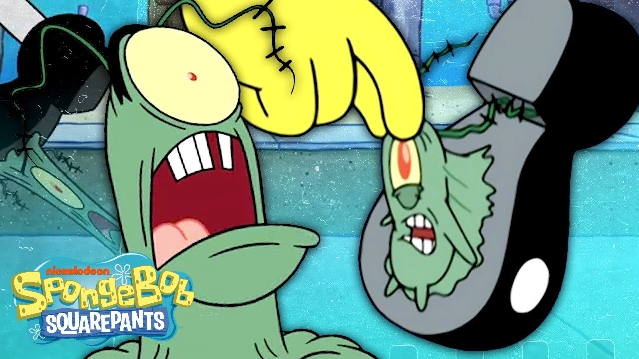 Every Time Plankton Gets STOMPED On Ever 🥾👁 SpongeBob