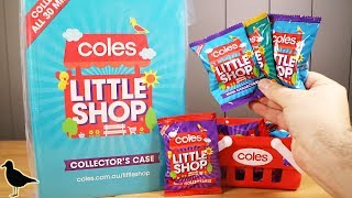 Coles Exclusive Little Shop Minis Opening + Collector's Case! Mini Food | Birdew Reviews