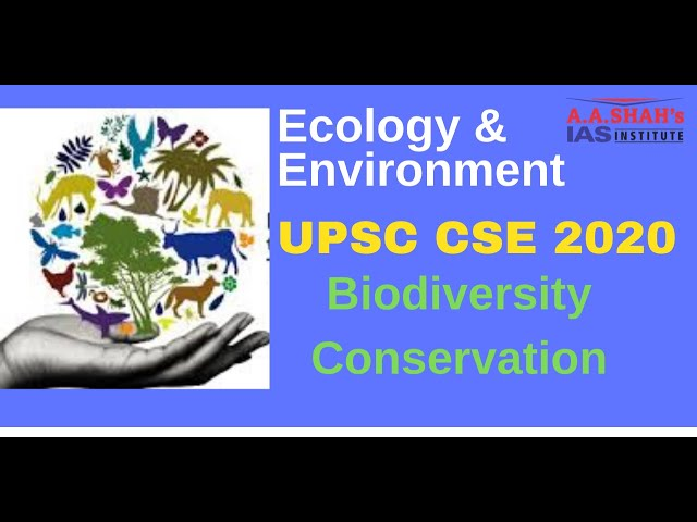 Ecology & Environment for UPSC CSE | Biodiversity & Conservation | UPSC Prelims 2020