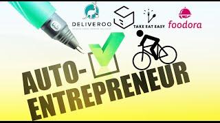 Coursier à vélo : Créer son statut autoentrepreneur (Stuart, Deliveroo, Foodora, Take eat easy...)