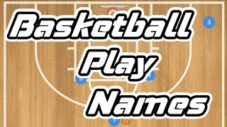 Basketball Offense Play Names