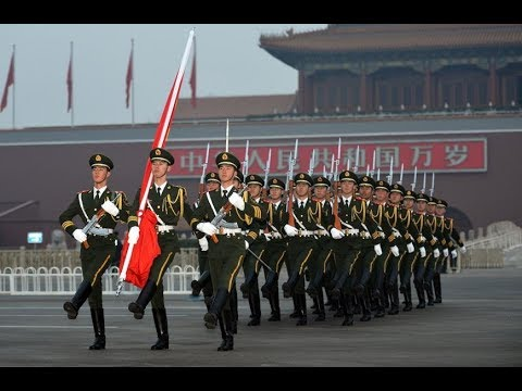 China's national flag guard