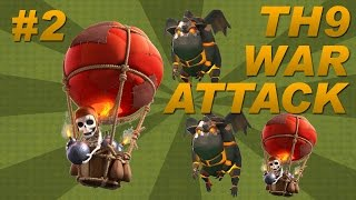 BEST Town Hall 9 (TH9) Clan Wars Attack Strategy - Lava Hounds + Balloons (Clash of Clans) Part 2